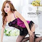 圖片-(任選2件990元)華麗薔薇•精緻性感誘惑馬甲(紫)