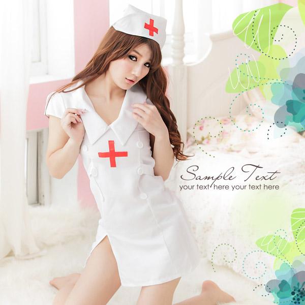 (任選2件990元)療癒寶貝.媚惑連身護士服