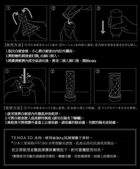 附圖3-日本TENGA.3D New Concept Hole 立體紋路非貫通自慰套TNH-003 Zen (禪)