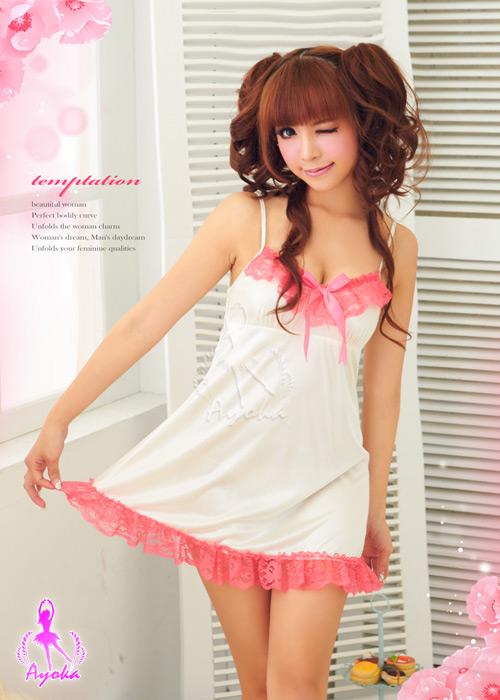 附圖2-深情微美!唯美柔緞睡襯衣#白