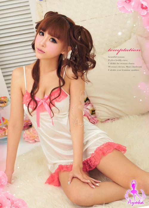 附圖3-深情微美!唯美柔緞睡襯衣#白