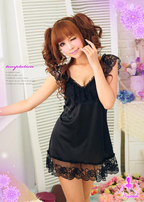 附圖2-愛的蔓延!魅惑睡襯衣#黑