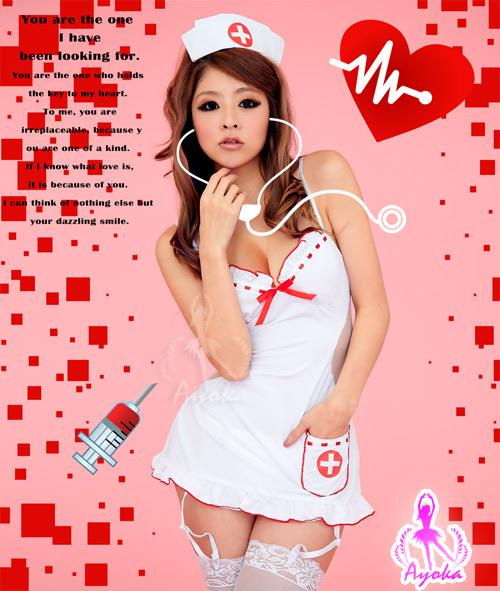 附圖2-姬情誘惑!裸背五件式吊襪帶護士服