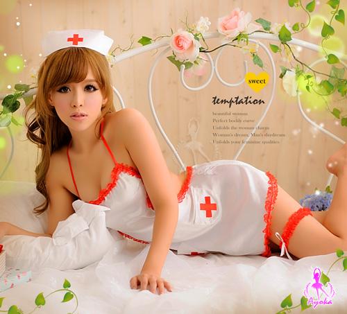 附圖4-【Ayoka】純情護士!肚兜五件組護士服