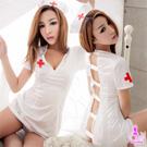 圖片-純白亮面三件式護士角色扮演服