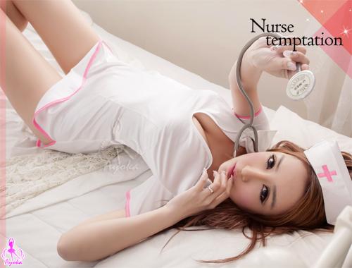 附圖5-白色連身三件式護士角色扮演服