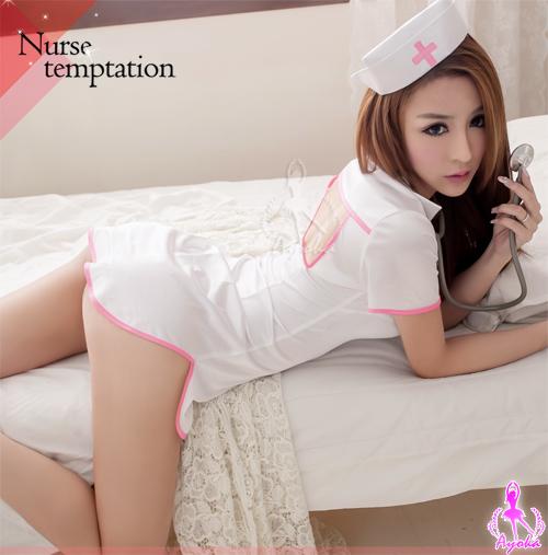附圖7-白色連身三件式護士角色扮演服