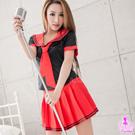 圖片- 黑衫紅裙三件式學生角色扮演服