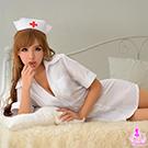 圖片-白色連身二件式護士角色扮演服