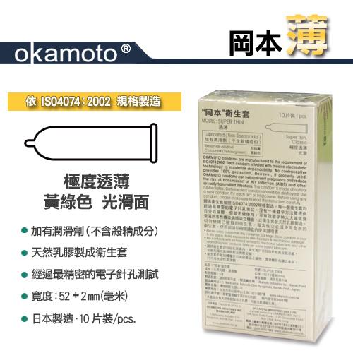 附圖2-岡本okamoto City - Super Thin透薄型保險套/衛生套10入裝