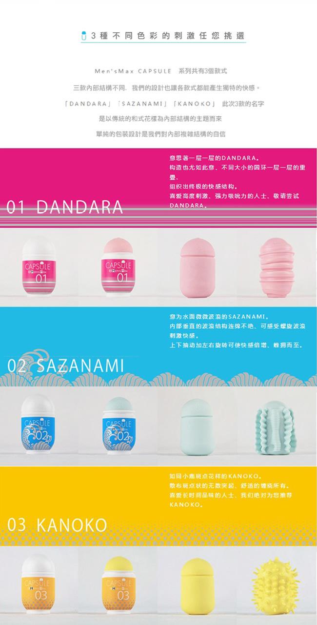 附圖3-日本MENS MAX 最新上市CAPSULE 可愛膠囊型男性自慰套-02藍色
