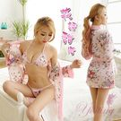圖片-《Yisiting》花誘甜心!愛戀飛舞和服式浴袍三件組