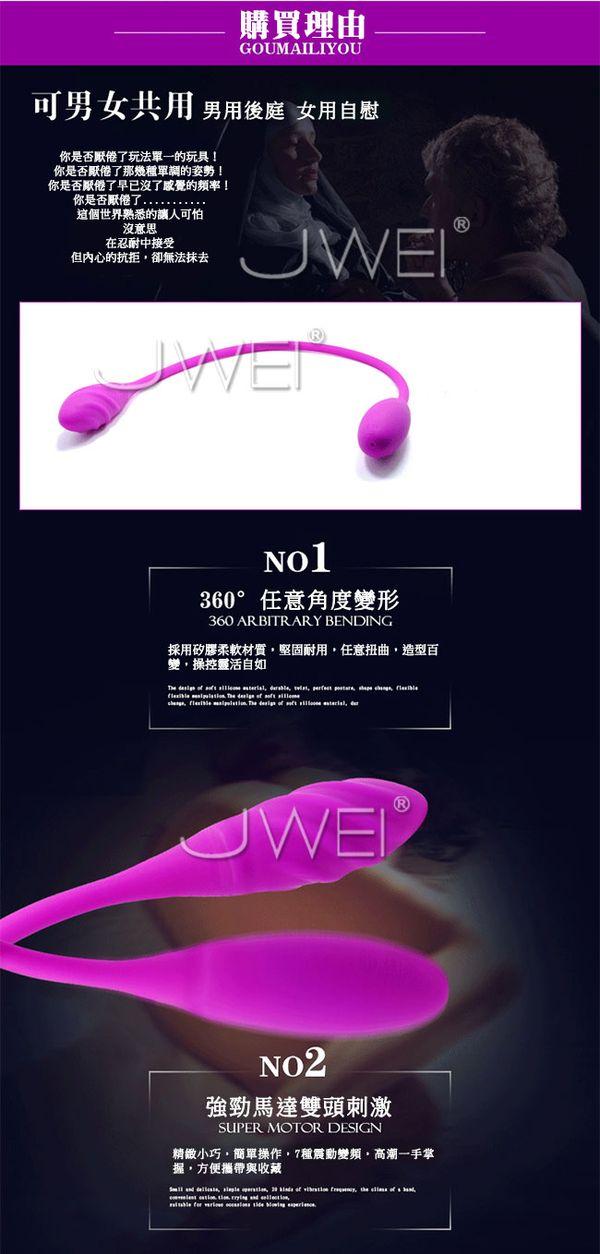 附圖3-Pretty Love.Snaky Vibe螺紋時尚USB充電7段變頻雙馬達前後可用震動按摩器