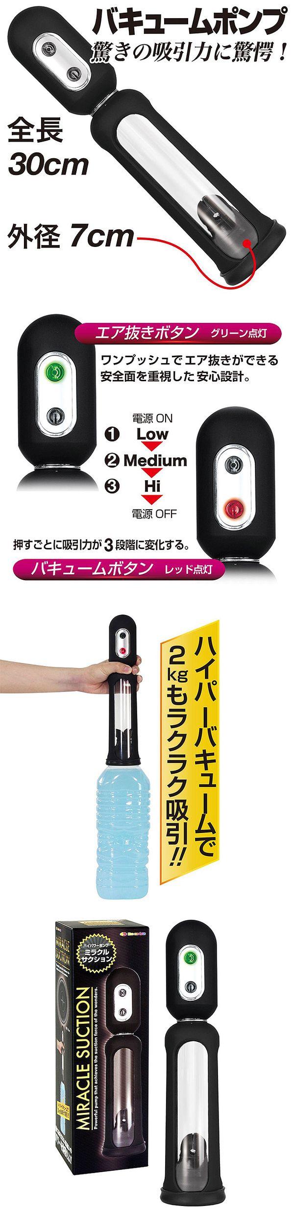 附圖2-日本原裝進口NPG.奇蹟3段吸力真空吸吮助勃器