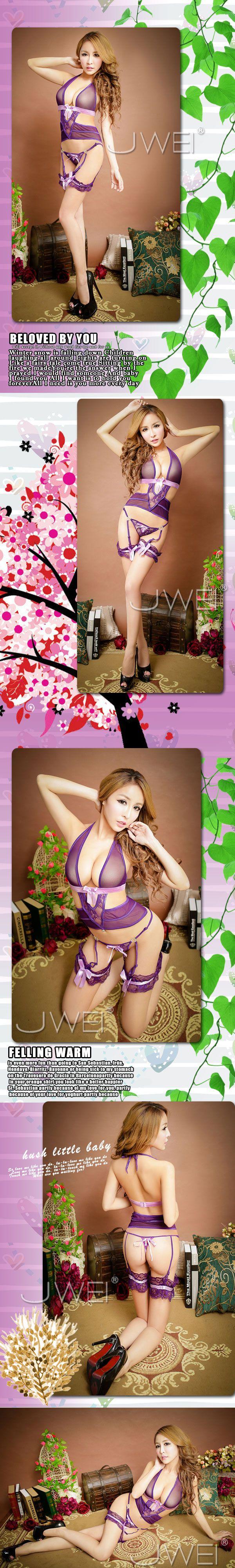 附圖2-紫戀誘惑.薄紗鏤空吊帶睡衣