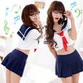 圖片-學生情人-二件式學生服#藍白