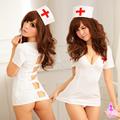 無敵爆乳俏護士-四件式情趣組(含網襪)(白)