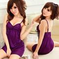 (任選2件450元)浪漫獵惑-深紫誘惑性感睡襯衣#紫